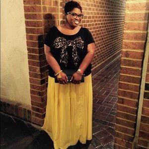 Yellow Sheer Maxi skirt